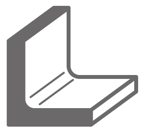 矯正加工対応材質 アングル型